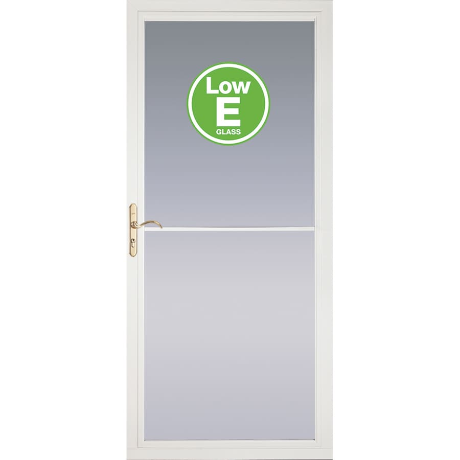 Pella Rolscreen White Full View Aluminum Storm Door