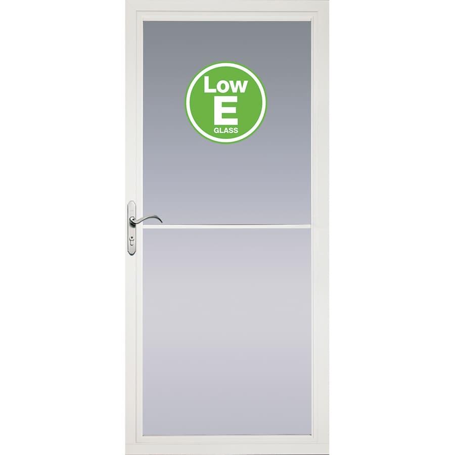Shop Pella Rolscreen White Full View Aluminum Storm Door