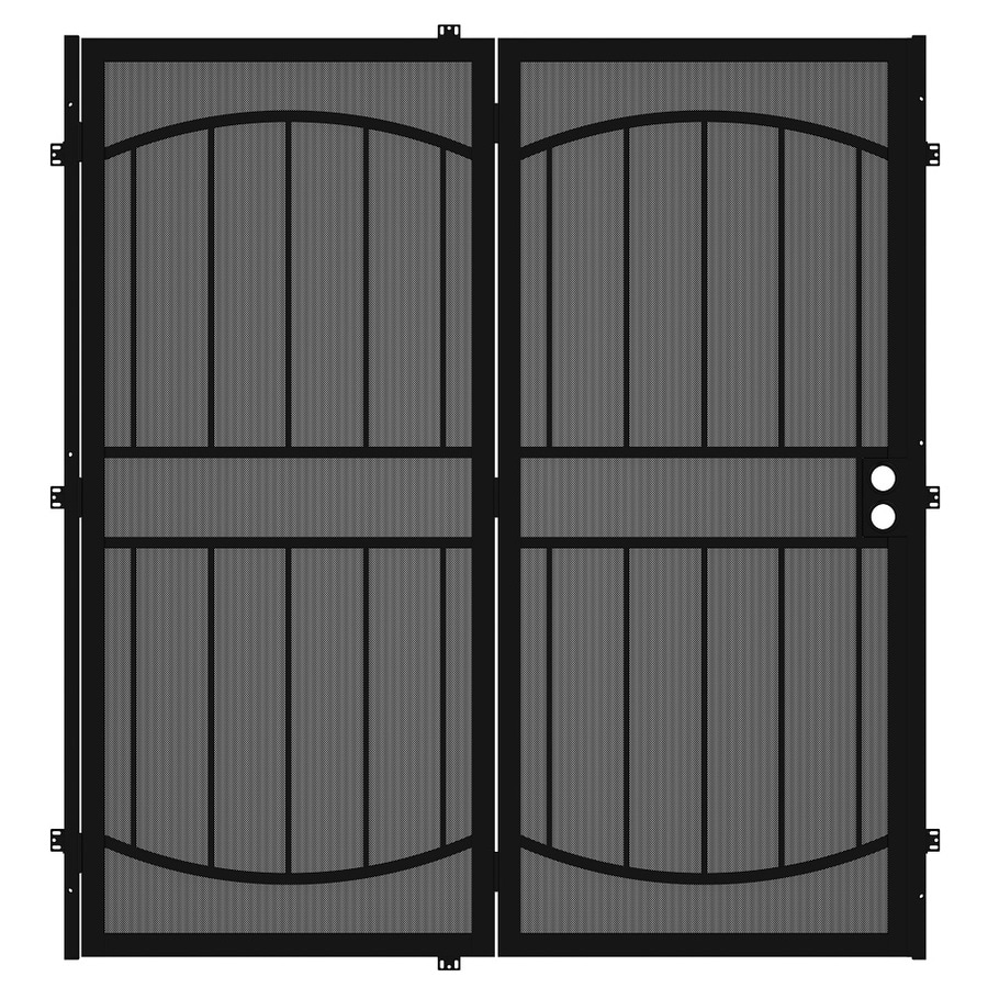 check out 719c9 06561 Gatehouse Security Patio Door Black Steel Surface Mount ...