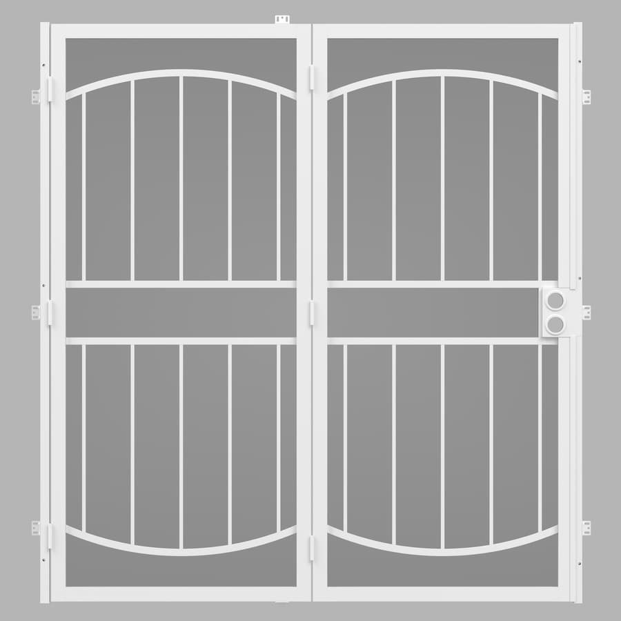 Gatehouse Security Patio Door White Steel Surface Mount ...