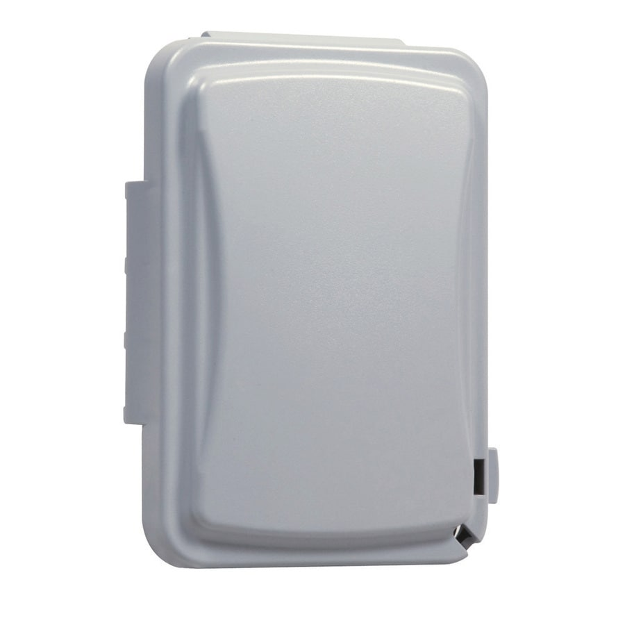 Weatherproof Outlet Box Lowes Shop Reddot 1 Gang Silver