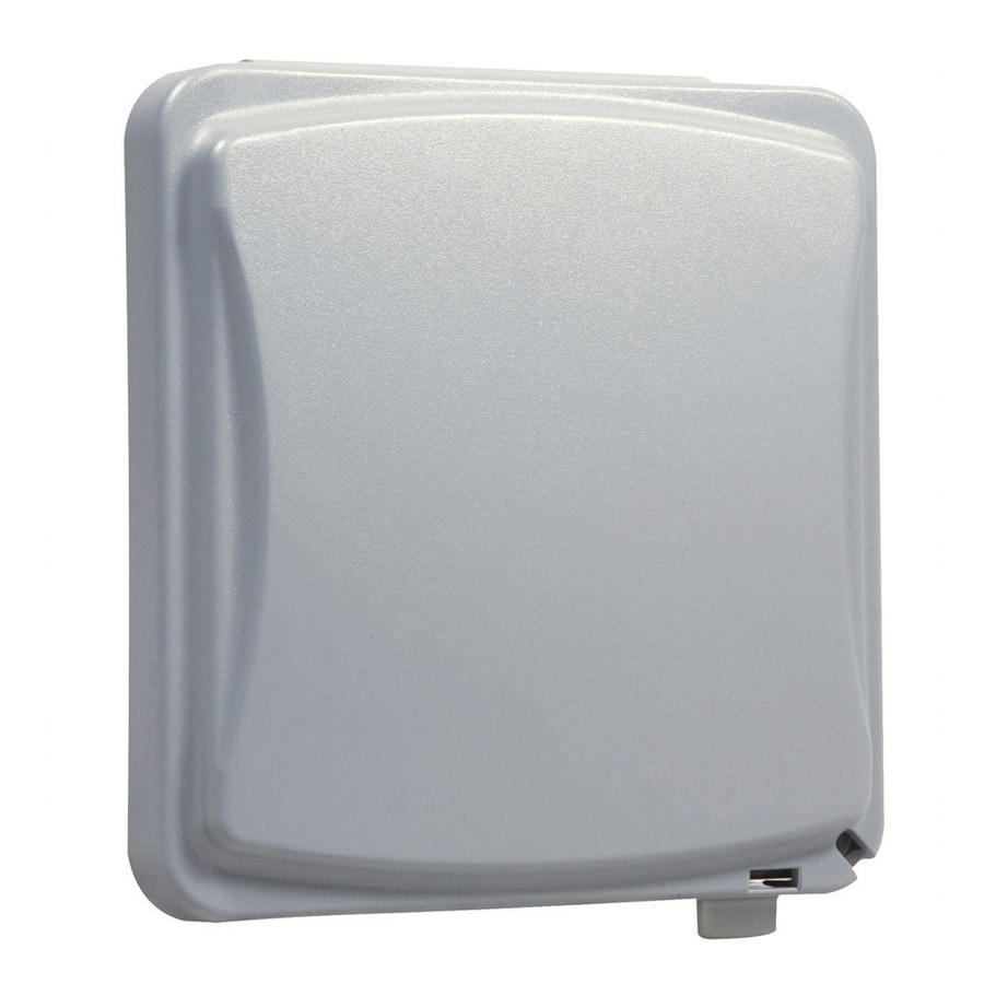 Hubbell TayMac 2-Gang Rectangle Plastic Weatherproof Electrical Box Cover