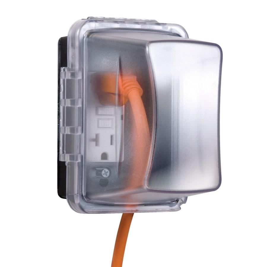 Plastic Weatherproof Electrical Boxes: Hubbell TayMac 1-Gang Rectangle Plastic Weatherproof