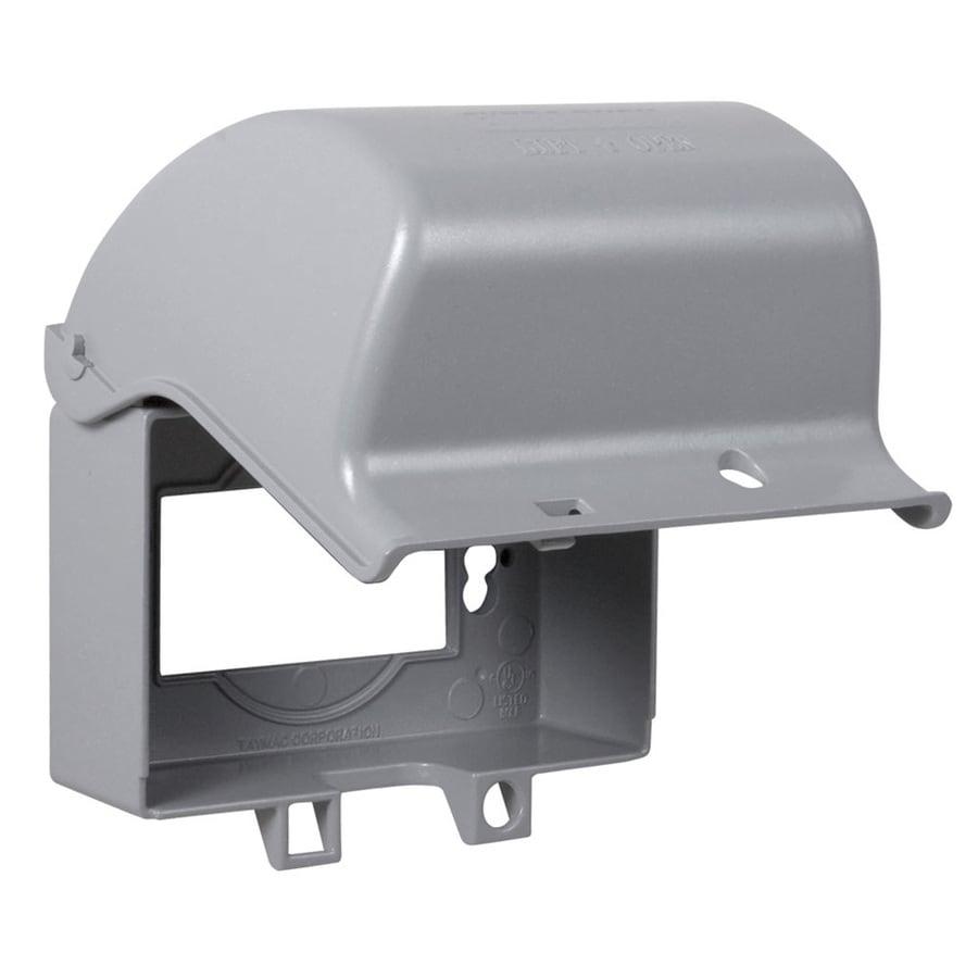 Electrical Weatherproof Lock Box: TayMac 1-Gang Rectangle Metal Weatherproof Electrical Box