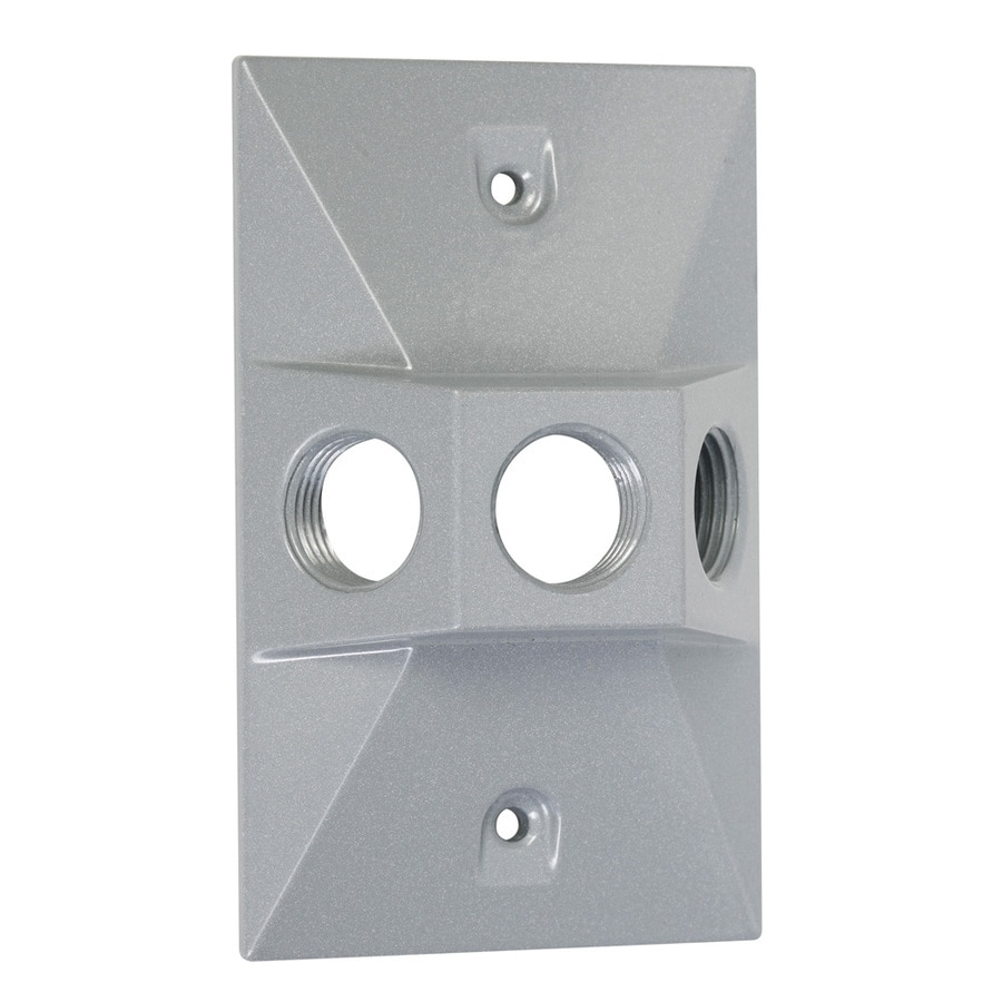 Hubbell TayMac 1-Gang Rectangle Metal Weatherproof Electrical Box Cover