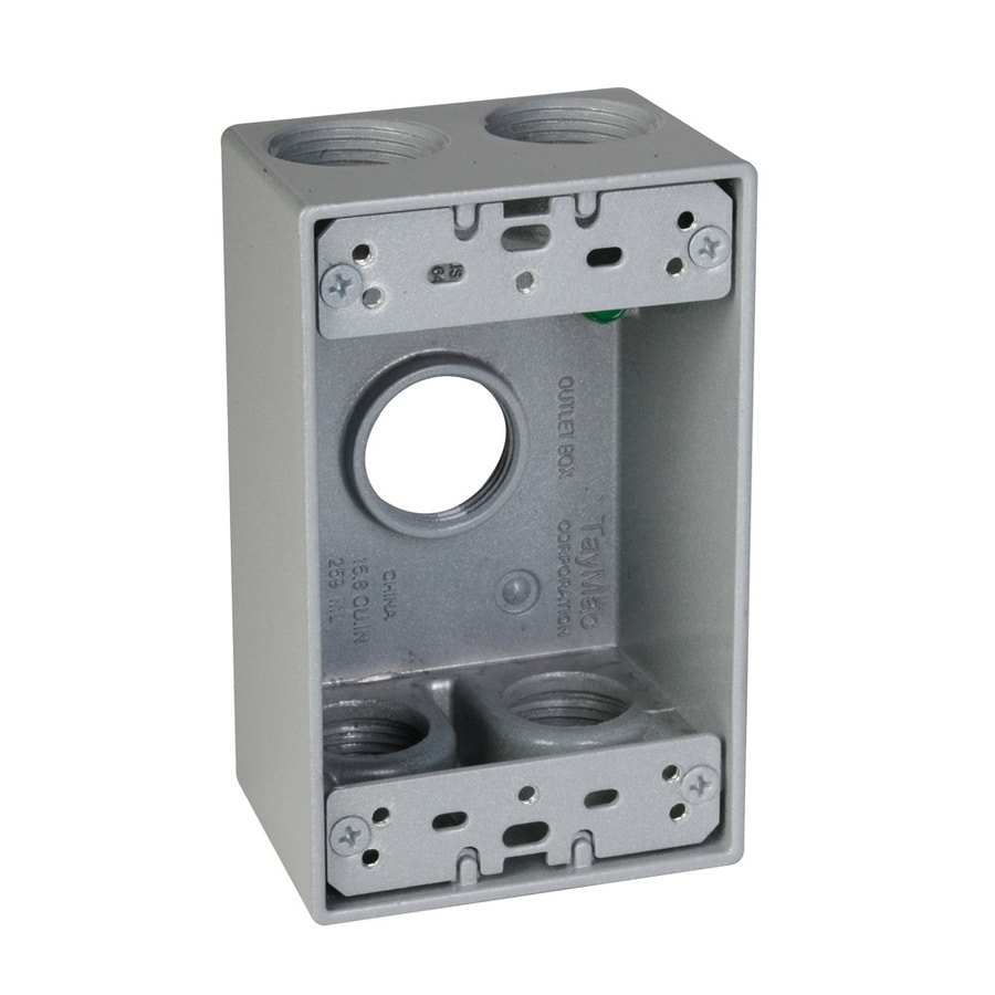 Hubbell TayMac 1 Gang Gray Metal Weatherproof Exterior New Work Standard  Square Electrical Box Part 98