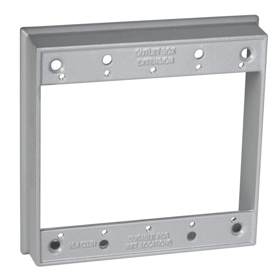 Hubbell TayMac Duplex Covers 2-Gang Gray Metal Exterior New Work Standard Rectangular Electrical Box