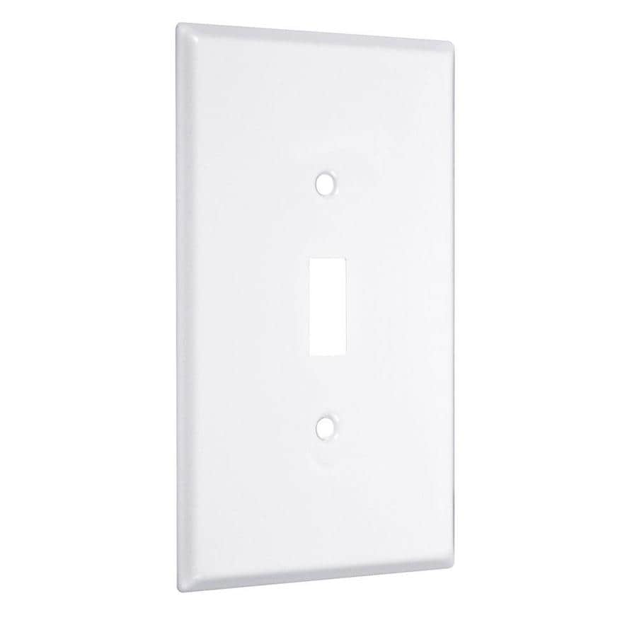 Hubbell TayMac 1-Gang White Single Toggle Wall Plate