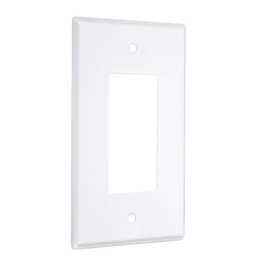 Hubbell TayMac 1-Gang White Single Decorator Wall Plate