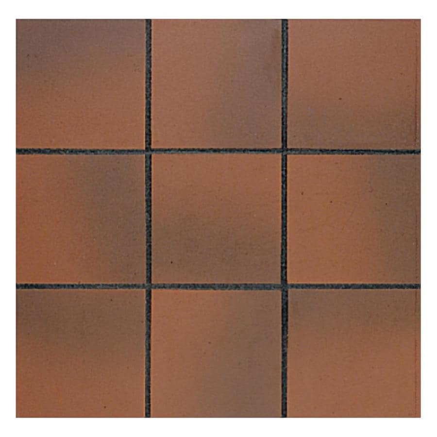 American Olean Quarry 44-Pack Ember Flash Ceramic Floor and Wall Tile (Common: 6-in x 6-in; Actual: 6-in x 6-in)