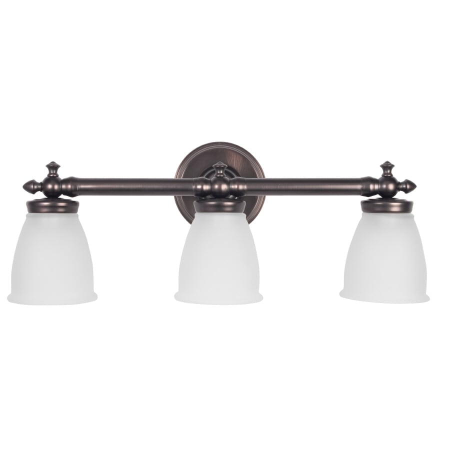 Shop DELTA Victorian 3-Light 9.5-in Oil Rubbed Bronze Vanity Light at Lowes.com