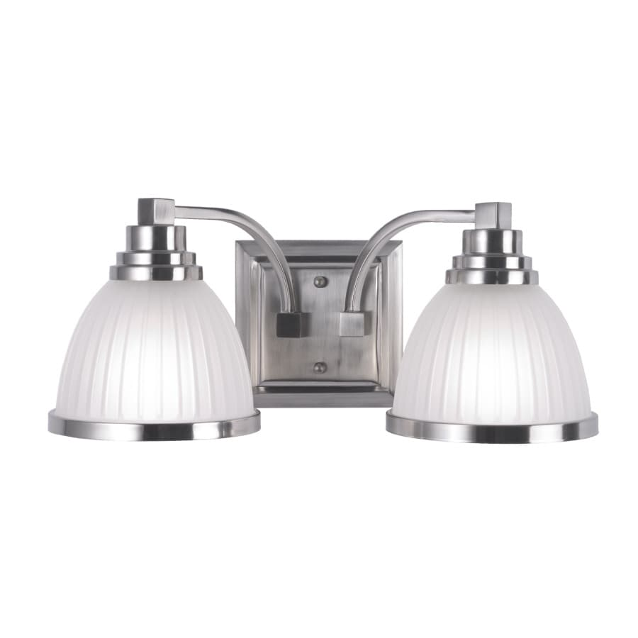 Portfolio 2-Light Roman Brushed Nickel Bathroom Vanity Light