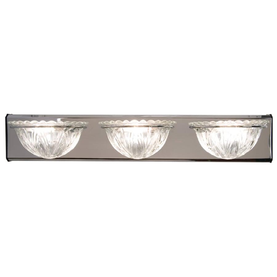 Checkolite International 3-Light Chrome Bathroom Vanity Light