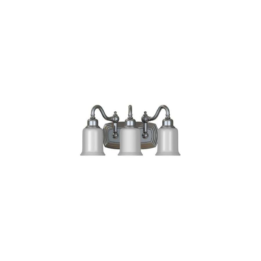 Bathroom Lights Galway shop portfolio 3-light galway chrome bathroom vanity light at