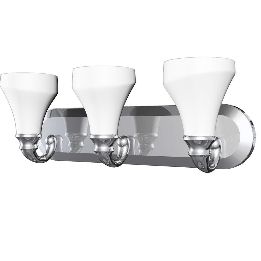 DELTA 3-Light Talbot Chrome Bathroom Vanity Light