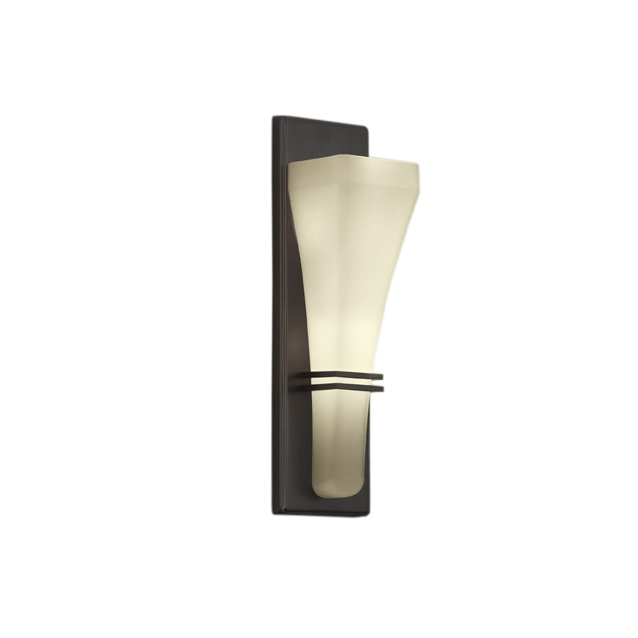 Portfolio 4.41-in W 2-Light Bronze Pocket Hardwired Wall Sconce