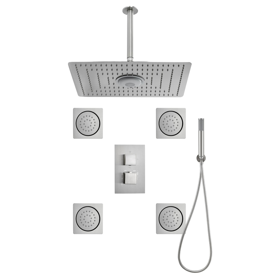 Moorefield 3 Way Switch Brushed Nickel Shower Panel System. Shop Showerhead Bar   Panel Systems at Lowes com