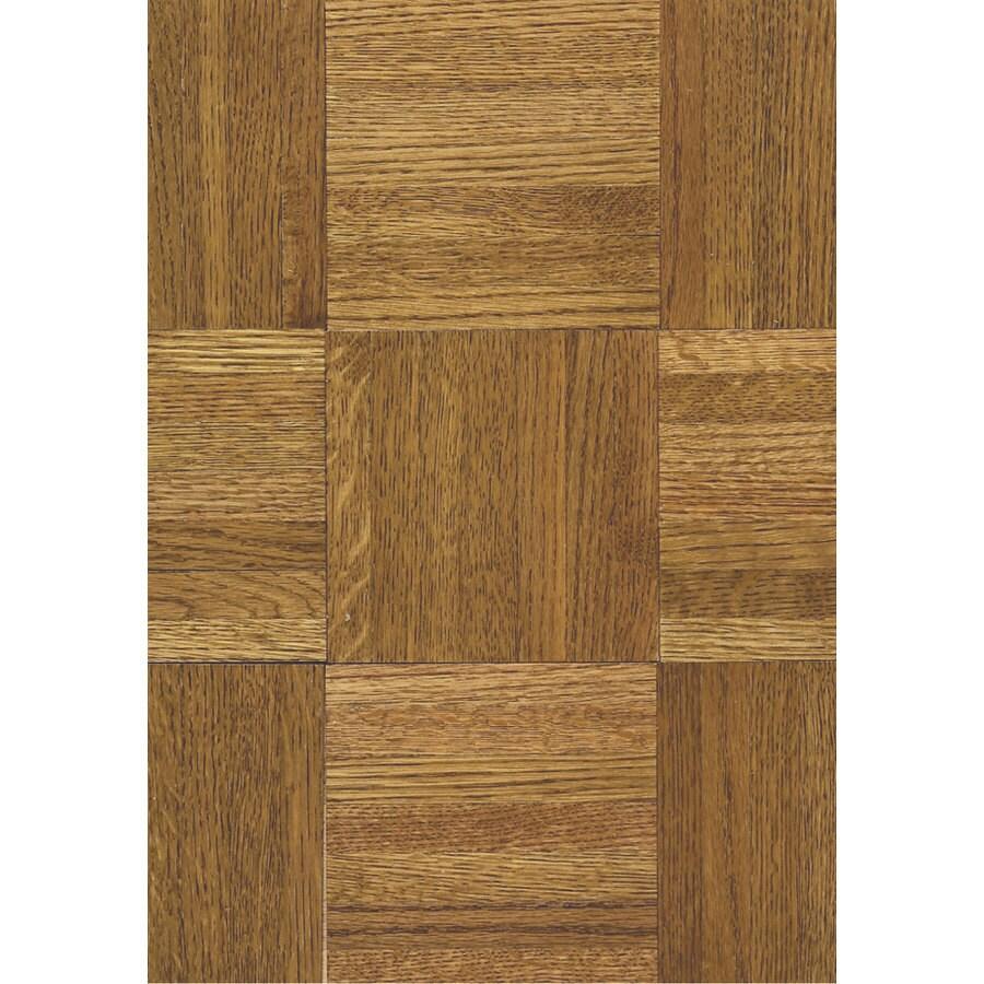 Hartco Urethane Parquet 12-in W x 12-in L Oak 5/16-in Solid Hardwood Flooring