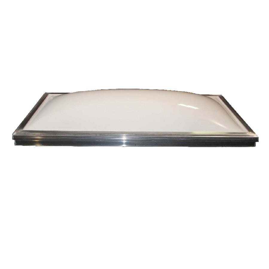 Solar 22 x 46 Solar Fixed Curb Mount Skylight, with White Acrylic Single Dome