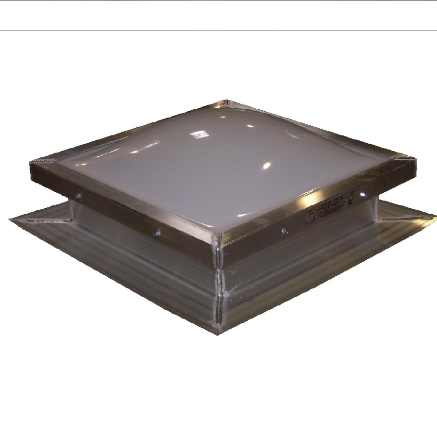 Solar 14 x 14 Solar Fixed Self Flashing Skylight, with White over Clear Acrylic Double Dome