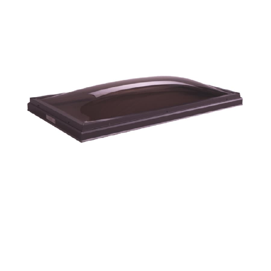 Solar 22 x 46 Solar Fixed Curb Mount Skylight, with Bronze over Clear Acrylic Double Dome