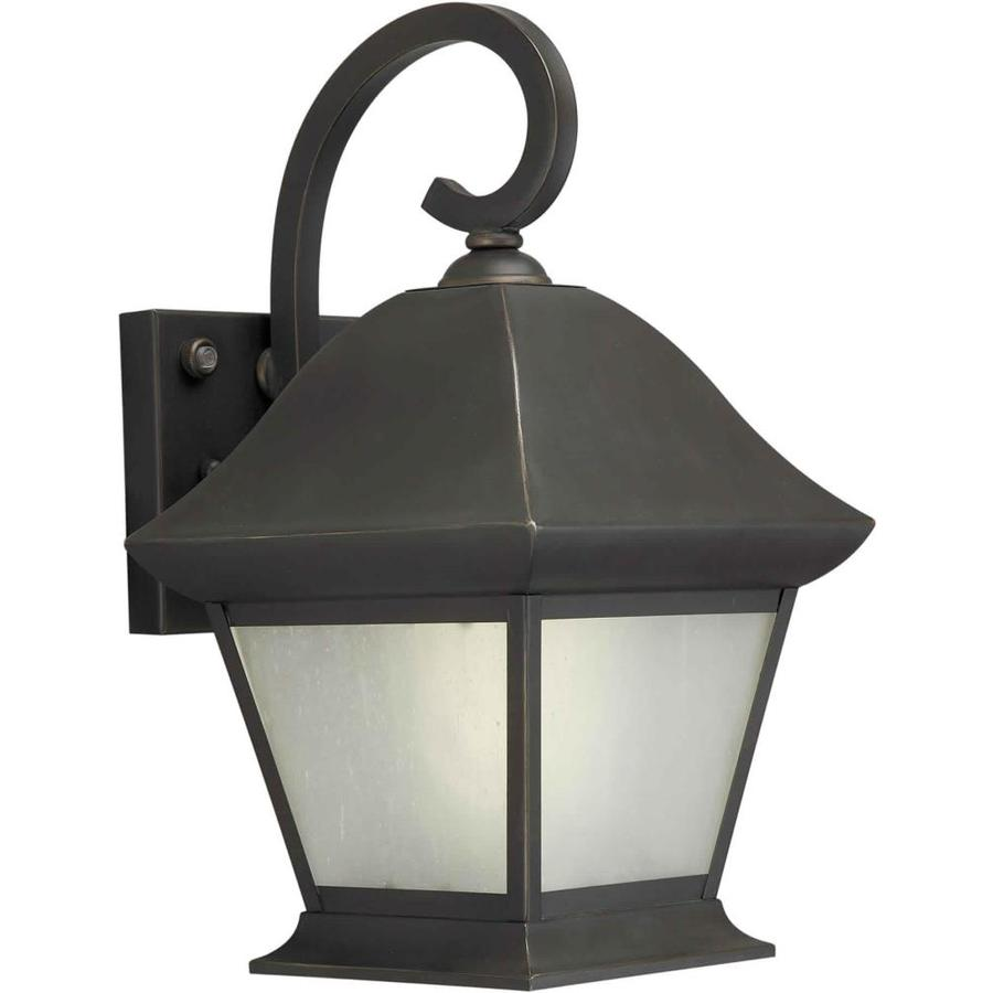13-in H Royal Bronze Outdoor Wall Light