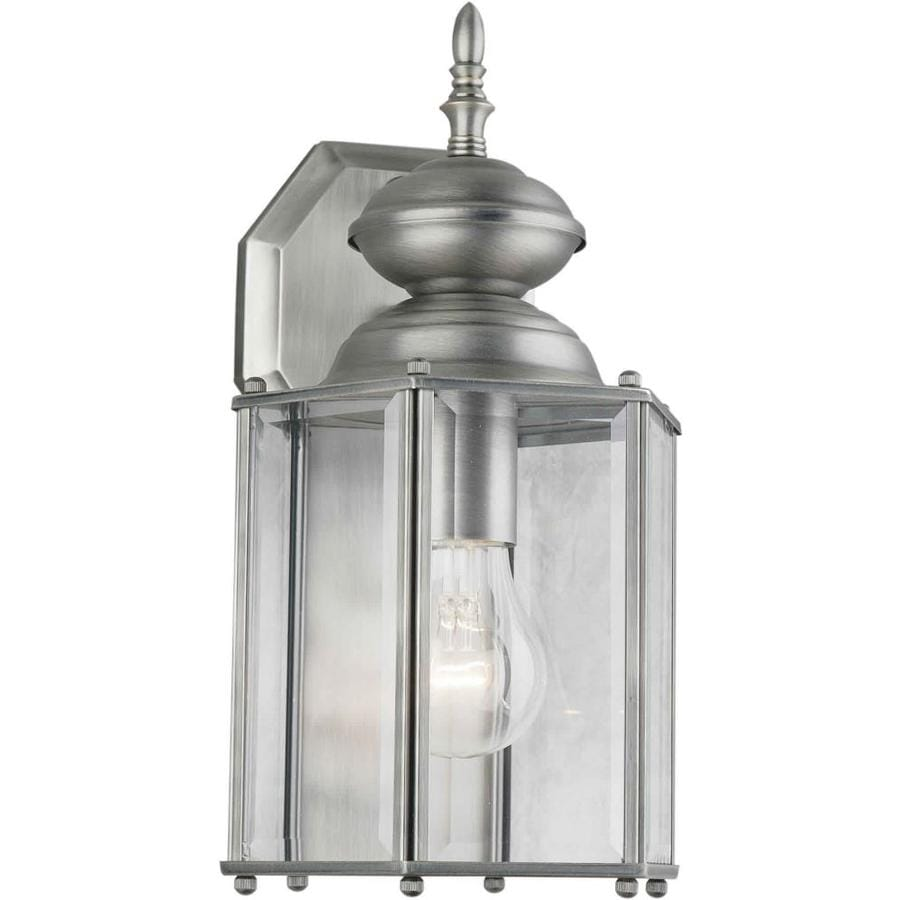 13-in H Olde Nickel Outdoor Wall Light