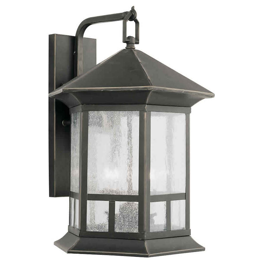 18-in H Royal Bronze Outdoor Wall Light