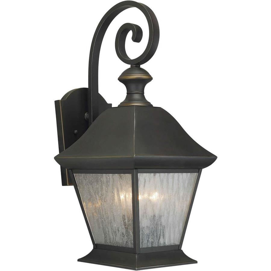 20-in H Royal Bronze Outdoor Wall Light