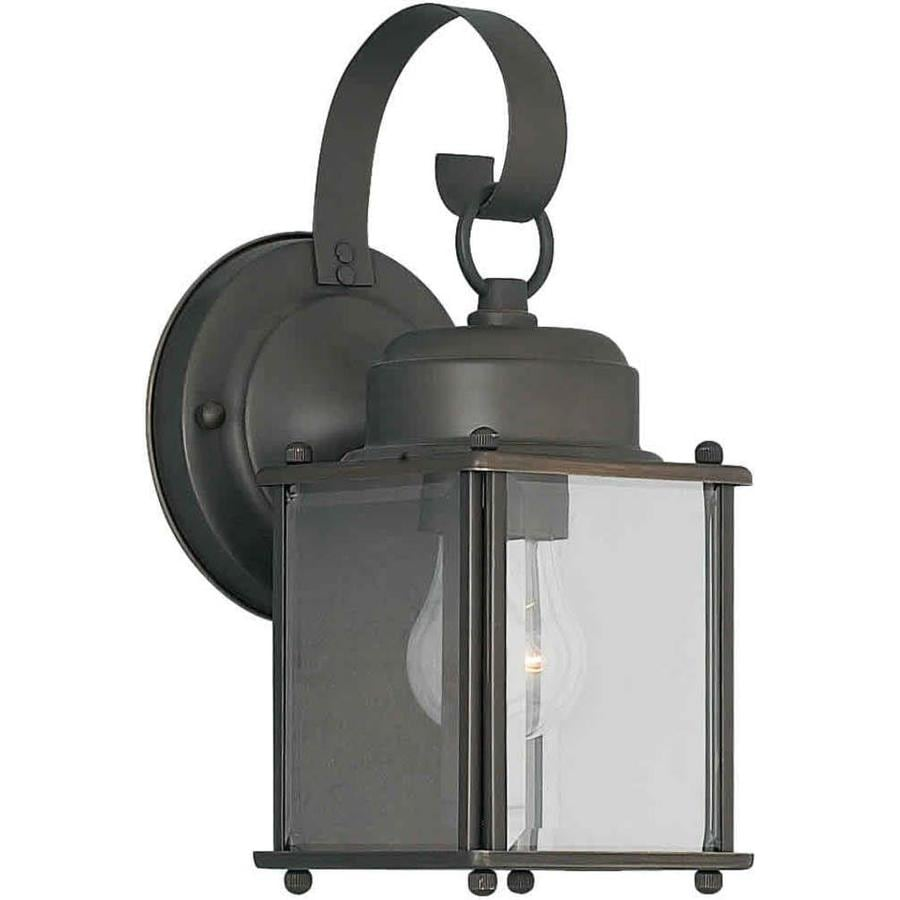 11-in H Royal Bronze Outdoor Wall Light