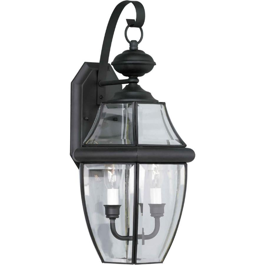 21-in H Black Outdoor Wall Light