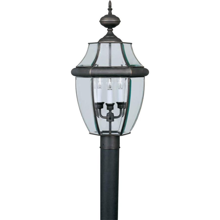 24-in H Royal Bronze Post Light