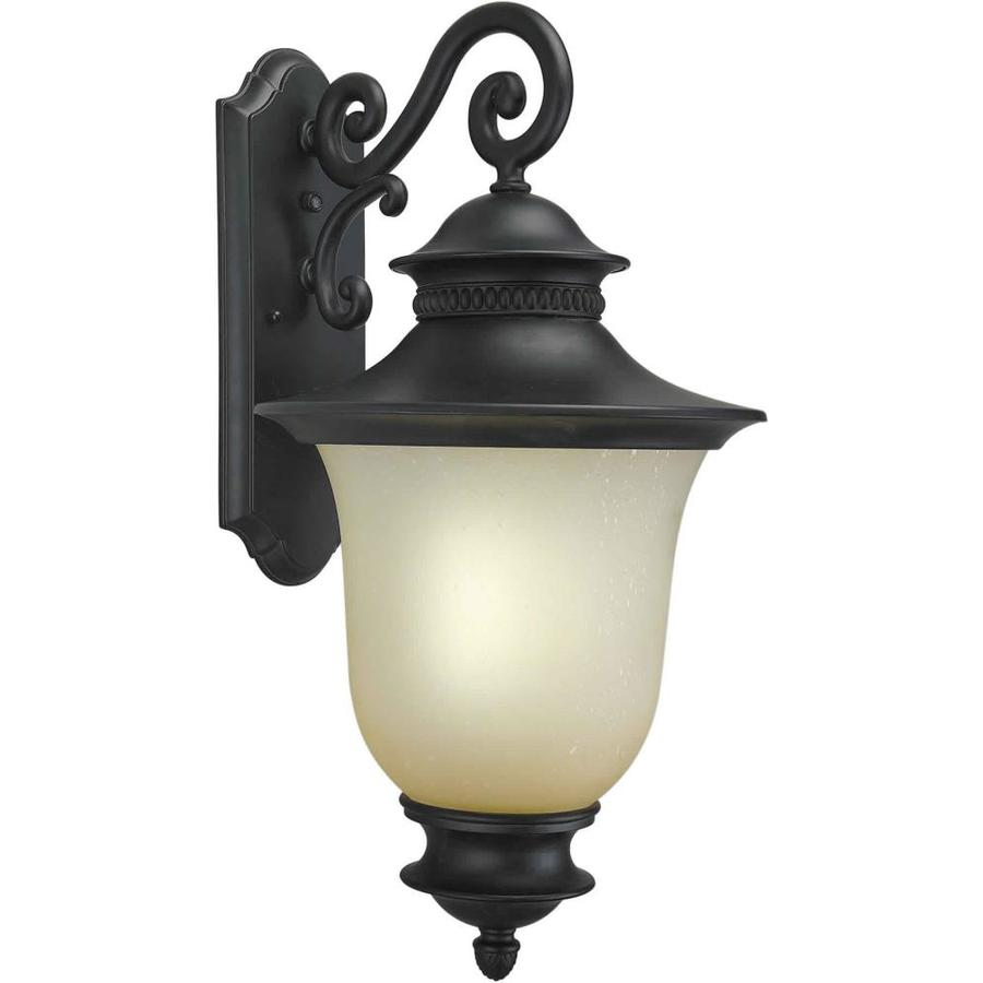 23-in H Black Outdoor Wall Light