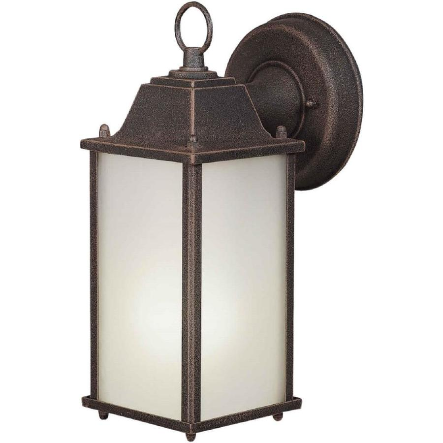 11-in H Painted Rust Outdoor Wall Light