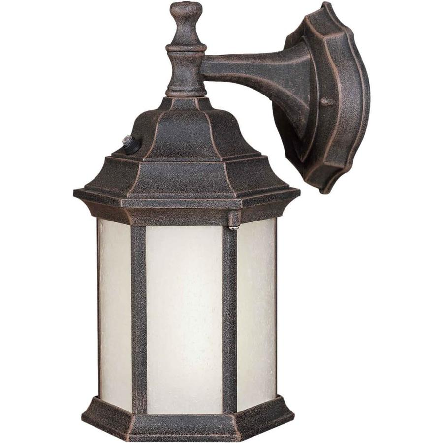 12-in H Painted Rust Outdoor Wall Light