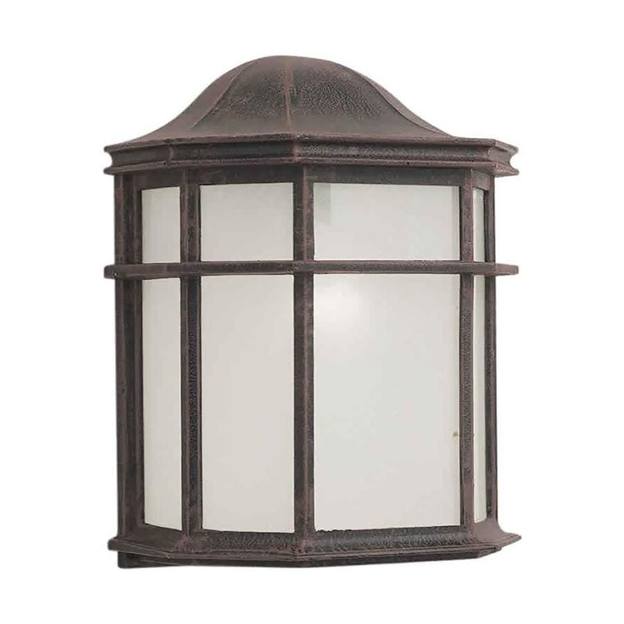 10-in H Painted Rust Outdoor Wall Light