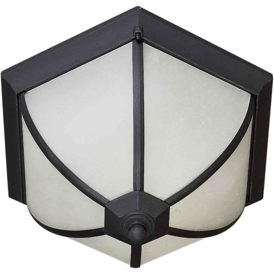 14.5-in W Black Outdoor Flush-Mount Light