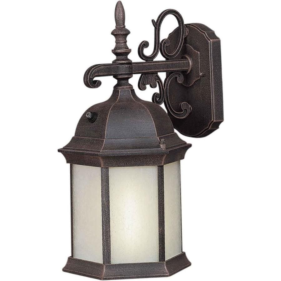 16-in H Painted Rust Outdoor Wall Light