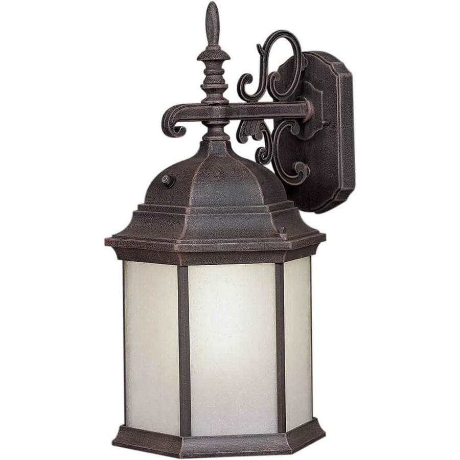 19-in H Painted Rust Outdoor Wall Light