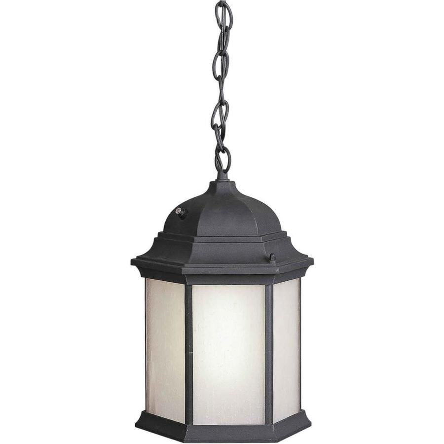 Scaevola 15-in Black Outdoor Pendant Light
