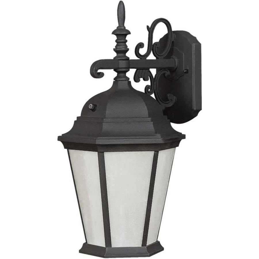 16-in H Black Outdoor Wall Light