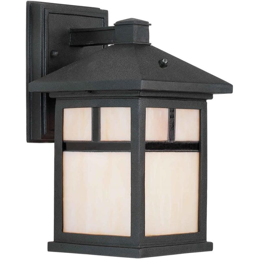 11-in H Black Outdoor Wall Light