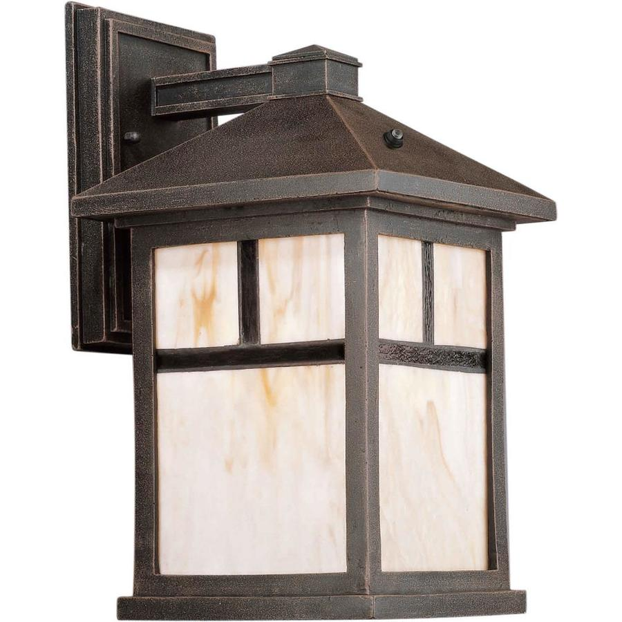14-in H Painted Rust Outdoor Wall Light