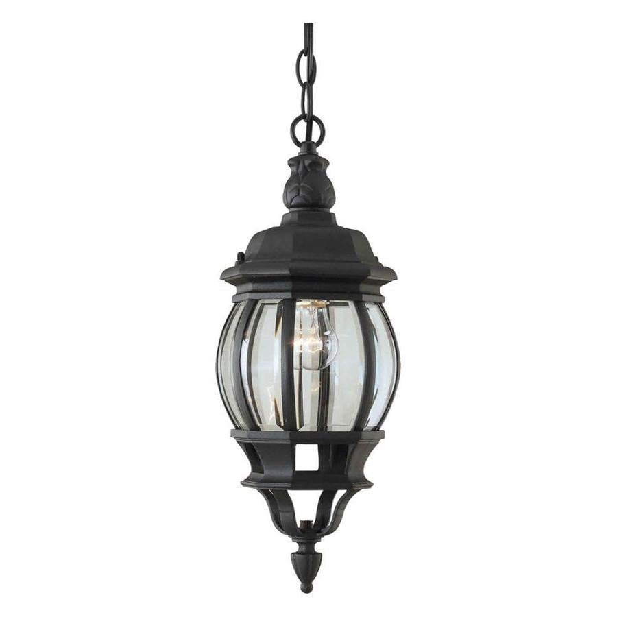 Hanging Light Fixtures At Lowes: Shop Polydorus 18-in Black Outdoor Pendant Light At Lowes.com