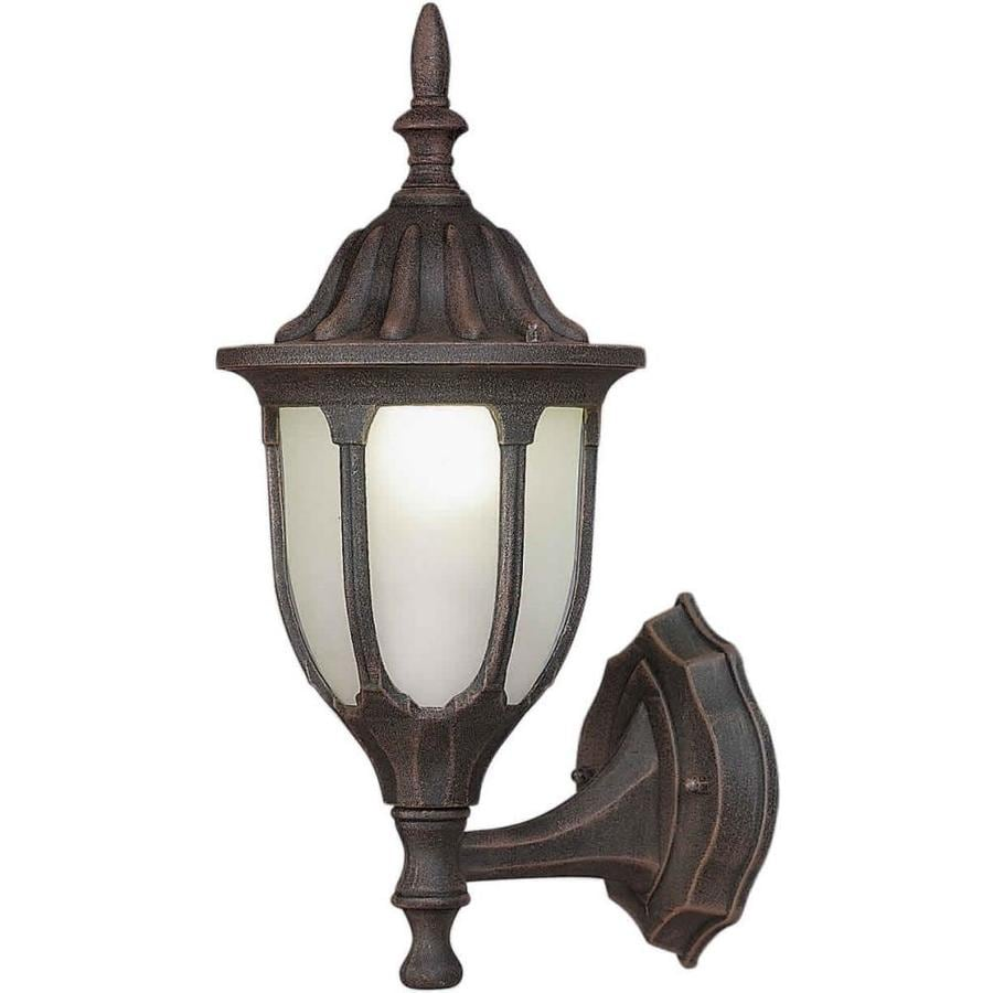 15-in H Painted Rust Outdoor Wall Light