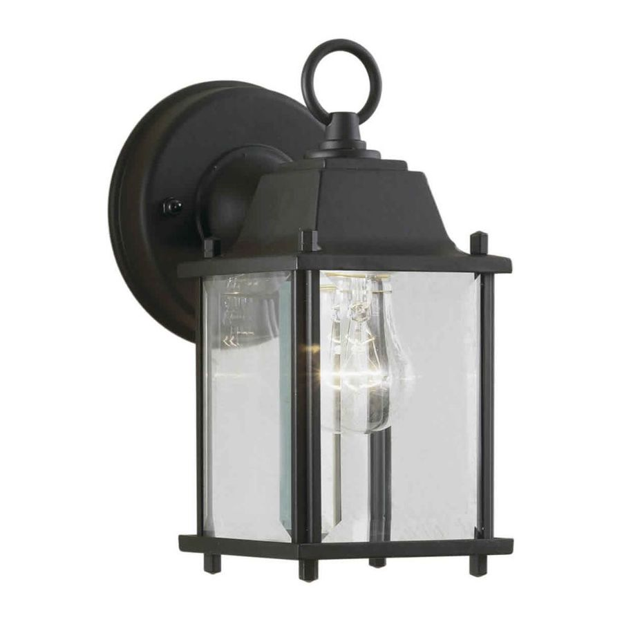 9-in H Black Outdoor Wall Light
