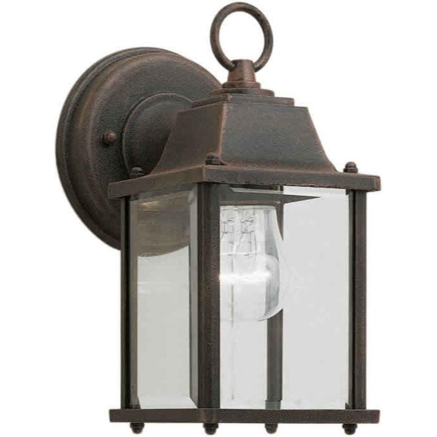 9-in H Painted Rust Outdoor Wall Light