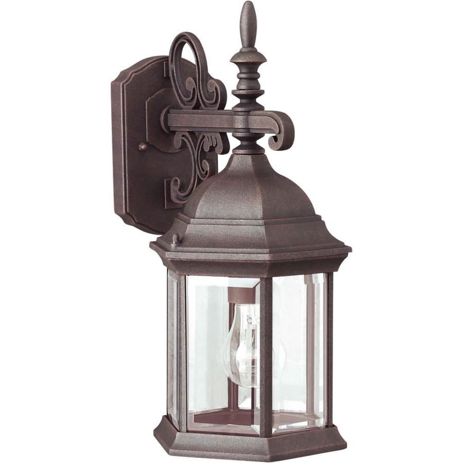 Wall Lantern Lowes : Shop 16-in H Painted Rust Outdoor Wall Light at Lowes.com