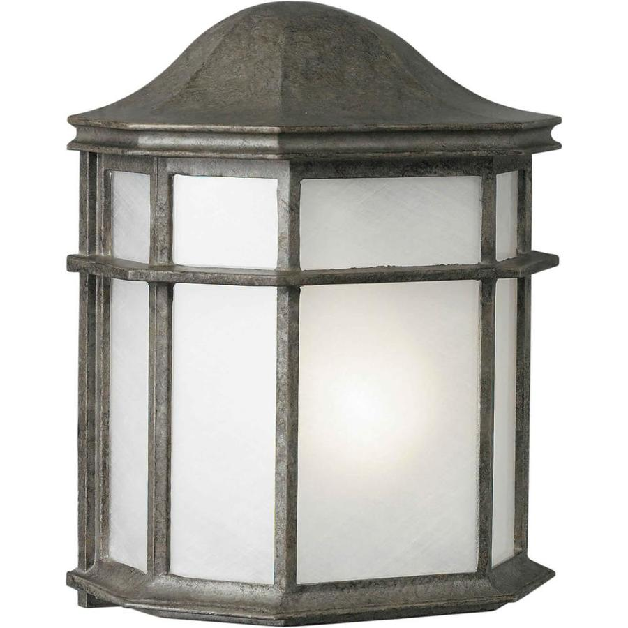 10-in H River Rock Outdoor Wall Light