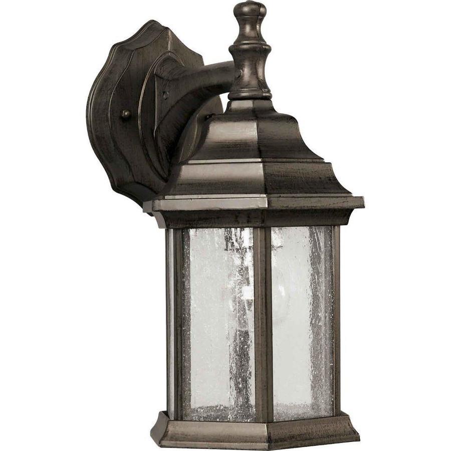 12-in H Olde Bronze Outdoor Wall Light